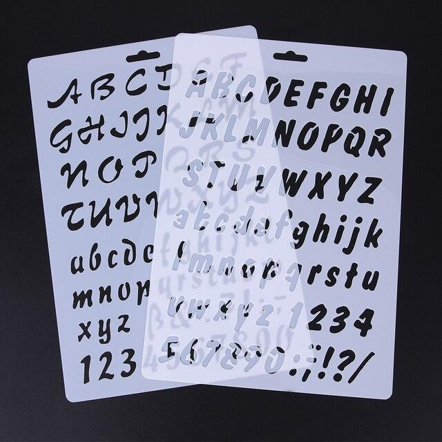 2pcs numeral alphabet letter fondant cake decorating tools number 2pcs numeral alphabet letter fondant cake decorating tools number cake stencil template mold spiritdancerdesigns Images