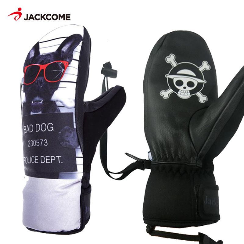 цены JACKCOME Men Winter Ski Snowboard Gloves Windproof Waterproof Snow Skiing Gloves Snowmobile Mittens Skating Glove Skiing Women