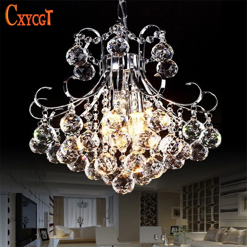 Luxury 3 light Crystal Chandelier Living Room Lamp lustres de cristal indoor Lights Crystal Pendants Free