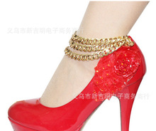New Fashion Shiny Women Chunky Gold Chain pulseras tobilleras Anklet Ankle Bracelet Bangle bracelet cheville Foot Jewelry
