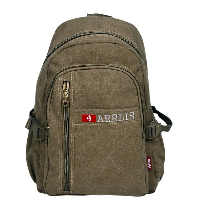 AERLIS Brand Men Canvas Backpack Women Casual College Travel Rucksack For Man Large Laptop Shoulder Bags Mochila Escolar 507