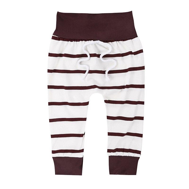 Купить с кэшбэком Brown Newborn Baby Boys Clothes Stripe Soild Bebes Hooded Top Pant 2pcs Autumn Winter Suit Bebek Giyim Clothing Set