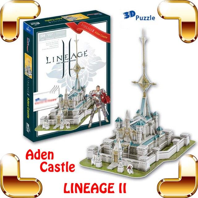 Новое поступление подарок Lineage 2 онлайн игры Aden замок 3D модель здания головоломки PC Игры Структура Коллекция DIY построен приколы игрушка