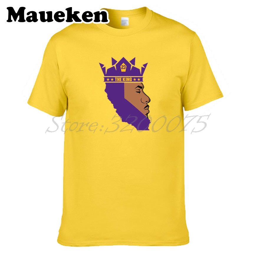 4830574d098 Men King LABron James 23 LeBron James Los Angeles T-shirt Clothes la T Shirt  Men s Tshirt For Lakers Fans O-Neck Tee W18070323