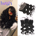 Iwish Hair Ear to Ear Lace Frontal Closure Brazilian Body Wave Virgin Hair Closure Human Hair Frontal Body Wave Wavy 8-20 Inch