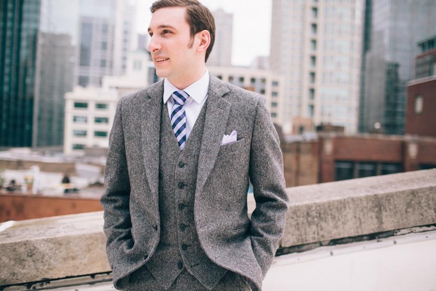 2018 Latest Coat Pant Designs Grey Tweed Men Suit Slim Fit 3 Piece ...