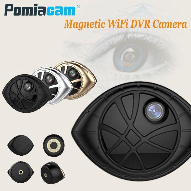 AI-338B Black Eye Shape Sport Action Camera HD 720P Super Mini Portable Magnetic WiFi Security DVR Camera Micro Camcorder f88 action camera black