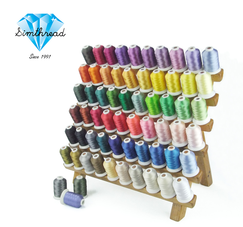 Hot Selling Polyester Embroidery Thread 63 Brother Colors