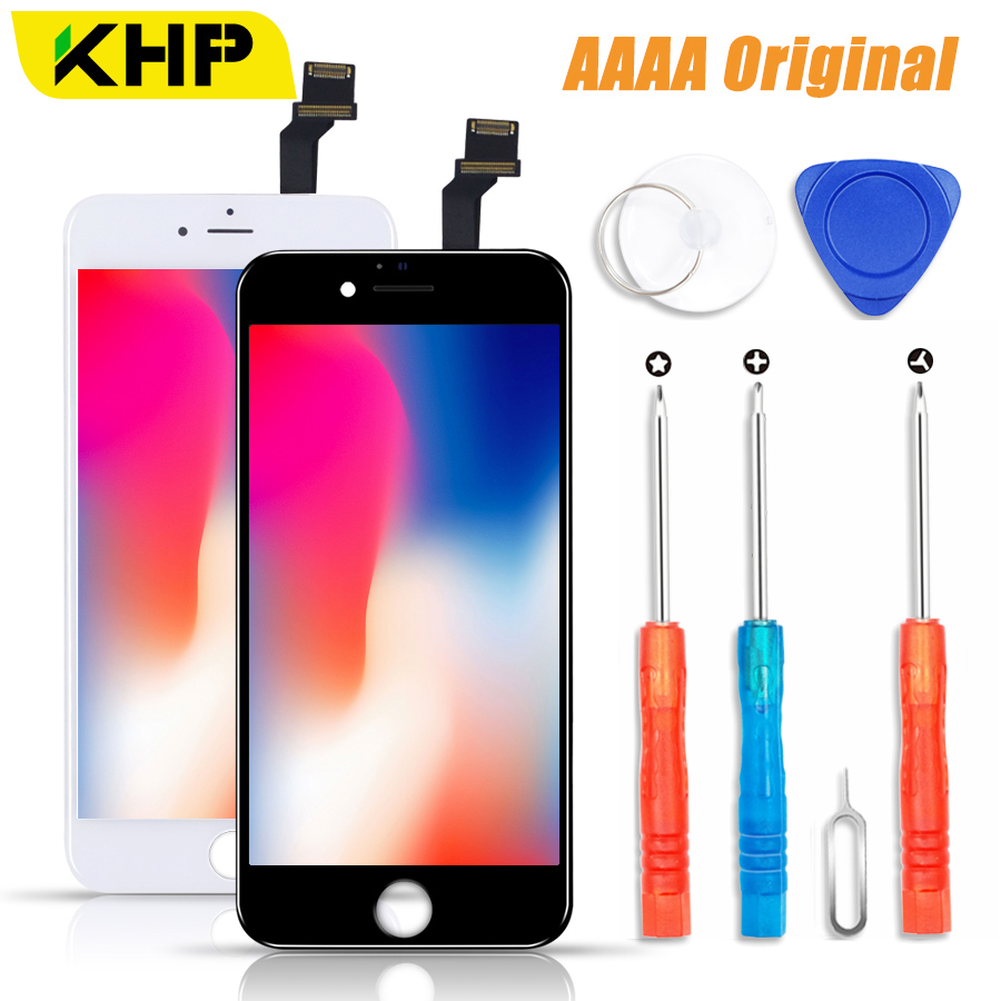 2018 KHP 100% AAAA Original LCD Screen Für iPhone 6 6 s Plus Bildschirm LCD Display Digitizer Touch Modul Bildschirme ersatz LCDS