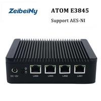 ניו מכירת חמה מיני מחשב תעשייתי חומת אש מחשב Atom E3845 quad core תמיכת מחשב לינוקס שרת VPN, AES-NI Pfsense
