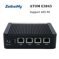 New hot selling mini pc industrial firewall pc Atom E3845 quad core VPN server computer support Linux, Pfsense AES NI
