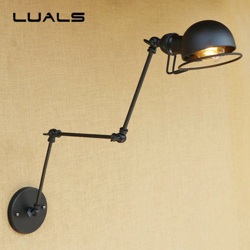 Nordic Rural Style Wall Lamp Cafe Bar Edison Wall Light Simple Black Metal Loft Vintage Wall Lights Bedroom Aisle Wall Lighting vintage industrial edison glass bottle wall lamp loft retro wall light bedroom aisle cafe bar store hall bedside hall lighting