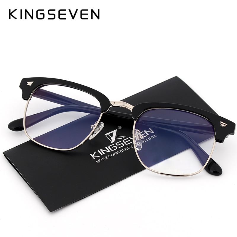 KINGSEVEN Glasses For The Computer Oculos De Grau Spectacle Frame For Men Women Eyeglasses Blue Coating Antireflective Anti UV