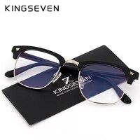 KINGSEVEN Glasses For The Computer Oculos De Grau Spectacle Frame For Men Women Eyeglasses Blue Coating