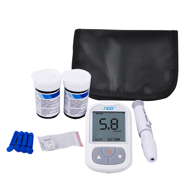 NewBlood Glucose Meter Tests Sugar Monitor Diabetic No Coding with 50 Test Strips+50 twist lancets