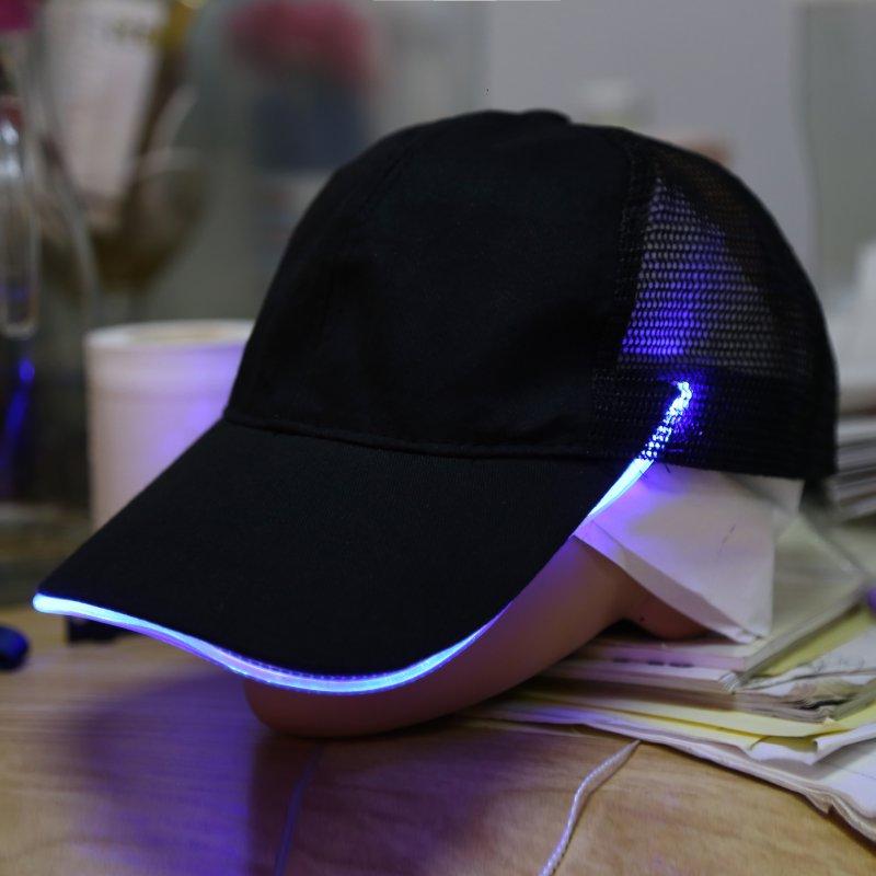 Fashion Night Fishing LED Baseball Cap Hat Light Glow Club Party Black  Fabric Travel Hat Snapbacks Caps LL4-in Baseball Caps from Men s Clothing  ... ad3d9dcf414