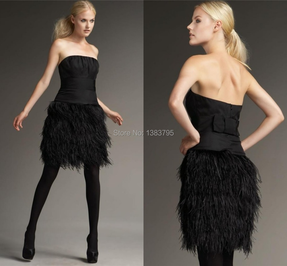 Online Buy Wholesale black feathered dresses from China black ...