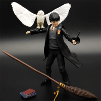 Harri Potter and The Sorcerers Stone Action Figure Collect 12cm SHF Harri Potter Model Decorations
