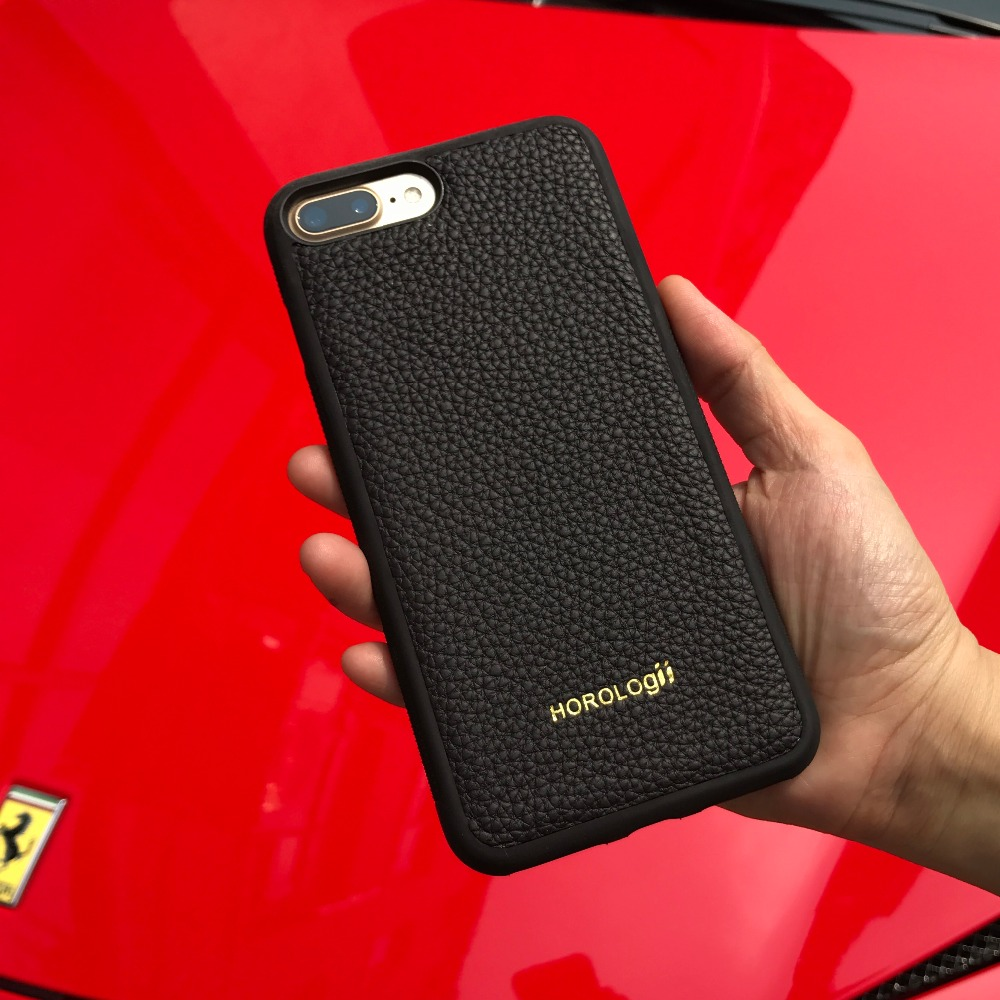 Marque de luxe Véritable de vache en cuir cas de téléphone portable pour iPhone X 6 10 SE 7 plus cas couverture arrière Apple téléphone personnalisé nom service