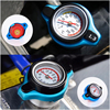 Car Motorcycle Styling D1 Spec Thermo Radiator Cap Tank Cover Water Temperature Gauge With Utility Safe 0.9 Bar/ 1.1 Bar/1.3 Bar