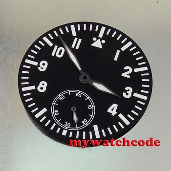 цена 38.9mm blue luminous black dial hands fit eta 6498 seagull 3620 movement Watch dial (Dial+hands) онлайн в 2017 году