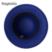 Raglaido Leaves Brim Fedora Felt Hats for Women