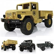 Military RC Truck 2.4G Four Wheel WPLB-14 Off Road Remote Simulation Of Military Vehicle Climbing Toy Car