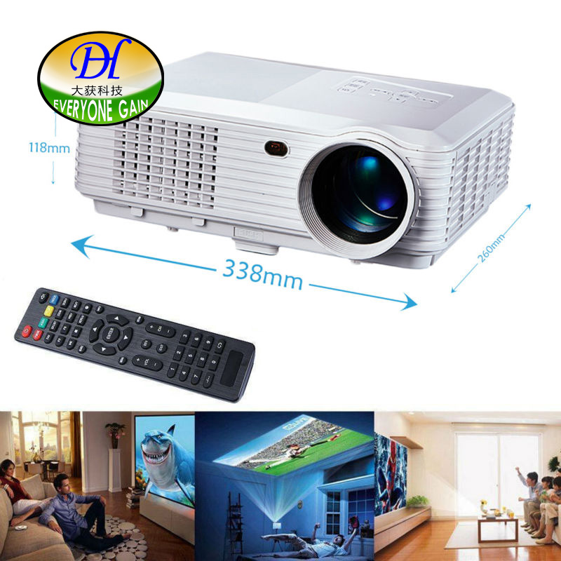 Everyone Gain 5200 lumens 3D LED LCD Full HD Projector Support 1920x1080P Video Proyector Home Theater Beamer TL120 Projetor everyone gain video projector 3000 lumens highlight build in speaker android 4 2 support 1080p movie proyector tl300