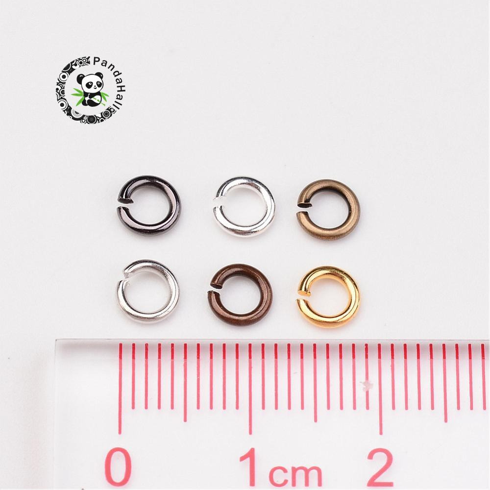 5x0.8mm; about 135g/box 1 Box Close but Unsoldered Brass Jump Rings Jewelry Making Component, Mixed Color