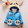 new item Baby boys Panda Winter Coat,children outerwear, Kids cotton thick warm hoodies jacket boys clothing in stock