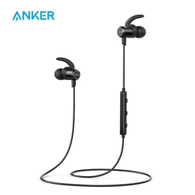 0d824b656ed Anker SoundBuds Slim Wireless Headphones Lightweight Bluetooth 4.1 Earbuds  IPX5 Water Resistant Sport Headset with Mic