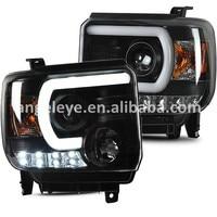 For GMC Sierra Headlight 2014 UP LED Head Lamp SN