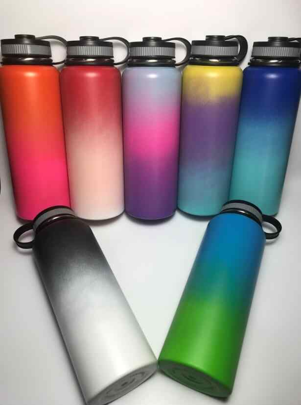 Hot!!! 10 Colors 18oz/32oz/40oz H-y-d-r-o F-l-a-s-k Vacuum Insulated Stainless Steel Water Bottle Wide Mouth With Logo