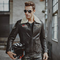 Men's real leather jacket air force flight jackets pigskin Genuine Leather Aviator jackets motorcycle coat men biker jacket