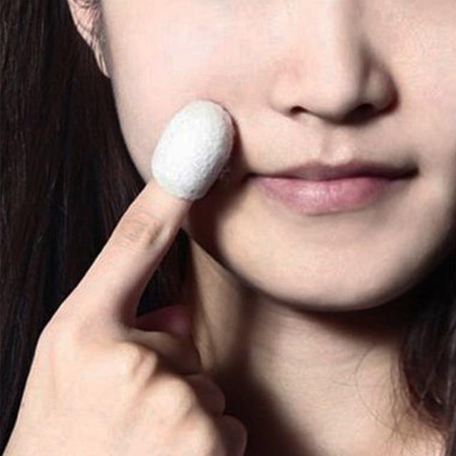 Blackhead Acne Remover 10PCS Natural Silk Cocoons Facial Skin Care Organic Silkworm Balls Purifying Whitening Exfoliating Scrub