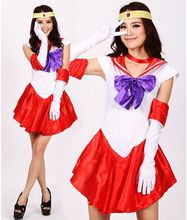 Ensen Красивая молодая девушка моряк Юбка Супер Принцесса Сейлор Мун Усаги цукино нимфа Хеллоуин Костюм Cosplay Fancy Dress