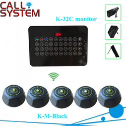 Restaurant paging call system for service equipment 2 monitors 32 buttons