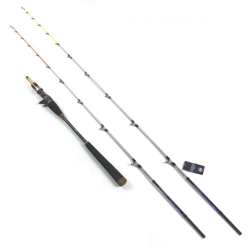 Double Sections 1.65m/1.8m 20-80# Ocean Boat Slow Jigging Fishing Rod With Fuji Guides seekbass slow jigging fishing rod 1 93m full fuji parts slow jig fishing rod jig weight 80 280g slow pitch jigging rod