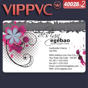 a40028-2 Business card template for  PVC Card 0.38mm     business card