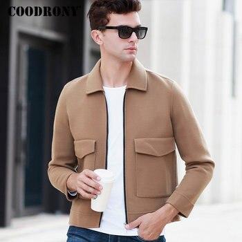 36ac8a4771f COODRONY шерстяное пальто мужская одежда 2018 Осень Зима Новое поступление  мужские s пальто Модные повседневные пальто толстые теплые куртки с ка.
