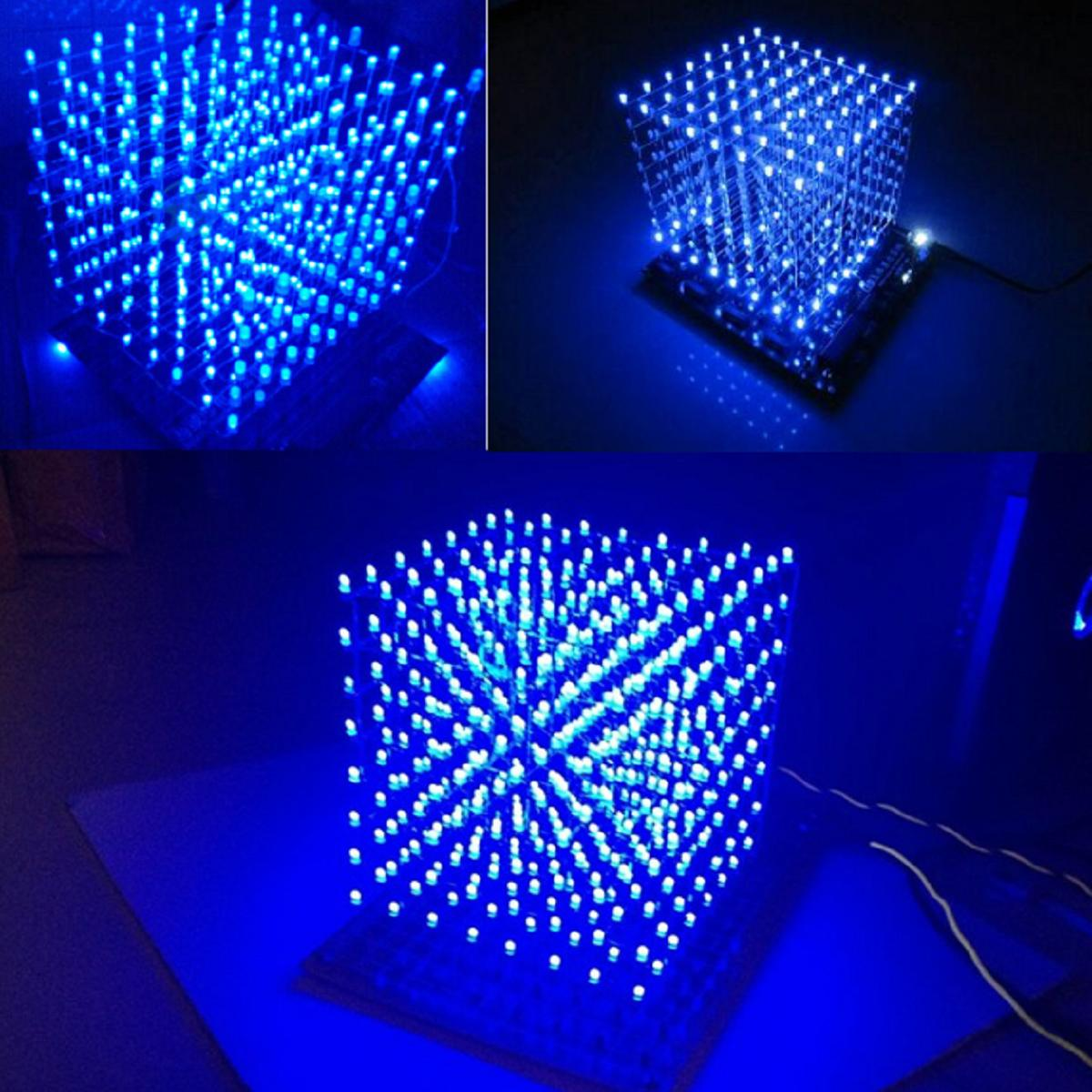 Image 2 - LEORY 8x8X8 512 LED DIY 3D LED Light Cube Kit Wi Fi Connected APP Control Music Spectrum LED Display Equipment MP3 DAC Circuit-in DAC from Consumer Electronics