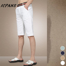 Big Size 29-42 New 2018 Summer Men shorts Slim men's clothing Knee-Length casual Shorts White A2939