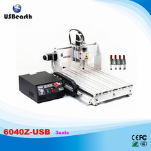 Hot China CNC Machine 6040Z-USB 3 Axis Mach3 Auto Version with USB Port 1.5KW Water-cooling Spindle