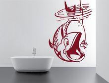 ديكور المنزل ملصق فينيل تحت الماء الأسماك تصميم ديكور المنزل للإزالة الفينيل ورقة ديكور الداخلية خلفية 2KN19