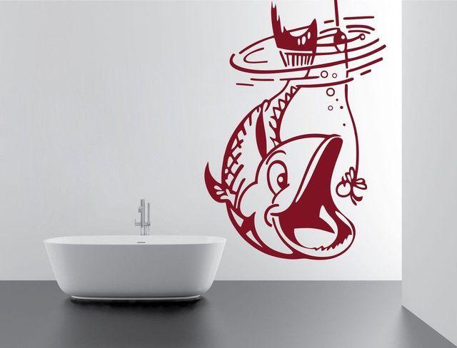 בית תפאורה ויניל מדבקת מתחת למים דגי עיצוב בית דקור נשלף ויניל נייר דקור פנים טפט 2KN19