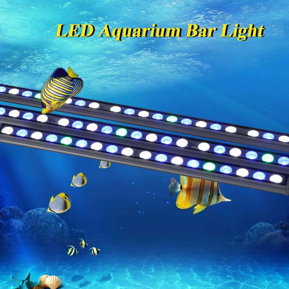 10ピース/ロット54ワットIP65 Led水族館バーライトハードストリップランプ用塩水/淡水サンゴ礁植物成長魚タンク照明