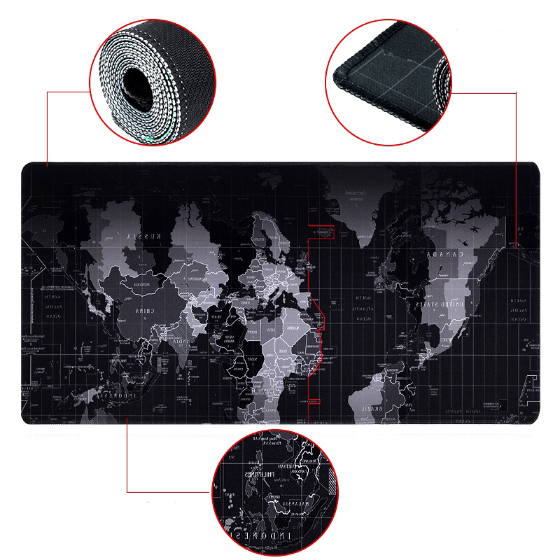 World map Quick custom rubber speed game mousepad Large size 800* 300*3mm lasting computers and laptops Mat Laptop Gaming New PC