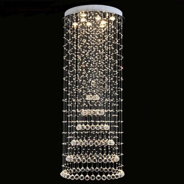 Modern crystal chandelier large led lamps long big chandeliers modern crystal chandelier large led lamps long big chandeliers holders luxury villa hotel lamps big hanging aloadofball Image collections