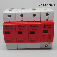 SPD 60 100KA 3P+N surge arrester protection device electric house surge protector D ~420V AC