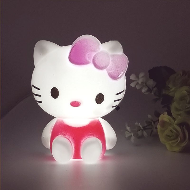 Hello Kitty LED Night Light AC220V 110V Cartoon Night Lamp With US Plug Gifts For Kid/Baby/Children Bedroom Bedside Lamp top baymax cartoon night light lamp 110v 220v us eu plug baby room led energy saving lamp kids light bedside lamp lighting
